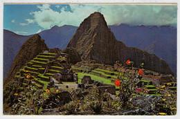 MACHUPICCHU   VISTA  PARCIAL  DE LA CIUDADELA Y HUAYNAPICCHU                       (VIAGGIATA) - Perù