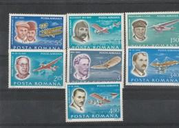 AVIONS ,Aviateurs Bleriot,Wright,Lillenthal,Fokker, Tupolev,Vlaicu,Vuia - Romania/ Roumanie1978 - Airplanes