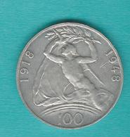 Czechoslovakia - 1948 - 100 Korún - 30th Anniversary Of Independence - KM27 - Czechoslovakia