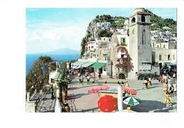 Cpm - Italie - CAPRI - La Logette - Parasol Publicité COCA-COLA FANTA Funiculaire - Italy