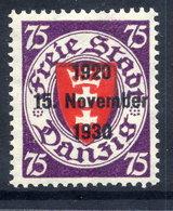 DANZIG 1930 10th Anniversary Of Free City Overprint On 75 Pfg.MNH / **. Michel 229 - Danzig