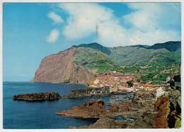 MADEIRA    CAMARA  DE  LOBOS   E  AU  FUNDO CABO  GIRAO                       (VIAGGIATA) - Madeira