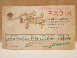 Amateur Radio Station Card  1972 - Radio-amateur