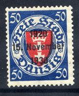 DANZIG 1930 10th Anniversary Of Free City Overprint On 50 Pfg.MNH / **. Michel 228 - Danzig