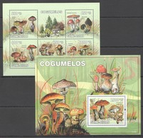 B522 2010 GUINE GUINEA-BISSAU MUSHROOMS COGUMELOS 1KB+1BL MNH - Mushrooms