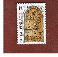 FINLANDIA (FINLAND) -  SG 899a  -    1983  TRADITIONAL ART: ARSENAL DOOR       -   USED ° - Usados