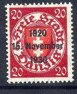 DANZIG 1930 10th Anniversary Of Free City Overprint On 20 Pfg.MNH / **. Michel 223 - Danzig