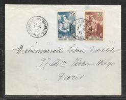LOT 1812255 - N° 386.387 SUR LETTRE DE PARIS DU 07/05/39 POUR PARIS - 1921-1960: Modern Period