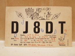 Germany Amateur Radio Station Card  1963 - Radio Amatoriale