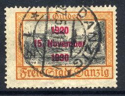 DANZIG 1930 10th Anniversary Of Free City Overprint On 1 G. Used. Michel 230 - Danzig