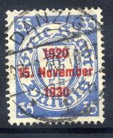 DANZIG 1930 10th Anniversary Of Free City Overprint On 35 Pfg.. Used. Michel 226 - Danzig