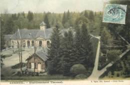 70 - LUXEUIL - Lot De 2 Cpa En Couleur - Etablissement Et Parc En 1905 - Luxeuil Les Bains