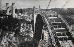 74 - PONT DE LA CAILLE - Construction Du Nouveau Pont En 1953 - Autres Communes