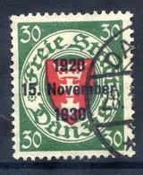 DANZIG 1930 10th Anniversary Of Free City Overprint On 30 Pfg.. Used. Michel 225 - Danzig