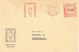 30956. Carta GRANADA 1978. Franqueo Mecanbico  Hermandad Farmaceutica Granadina. FARMACIA - 1931-Today: 2nd Rep - ... Juan Carlos I
