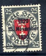 DANZIG 1930 10th Anniversary Of Free City Overprint On 25 Pfg.. Used. Michel 224 - Danzig