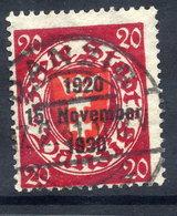DANZIG 1930 10th Anniversary Of Free City Overprint On 20 Pfg.. Used. Michel 223 - Danzig