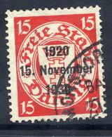 DANZIG 1930 10th Anniversary Of Free City Overprint On 15 Pfg.. Used. Michel 222 - Danzig