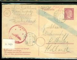 WWII * HANDGESCHREVEN POSTKAART Uit 1944 Van Gepruft CONCENTRATIEKAMP COESFELD Naar Familie In ROTTERDAM    (11.492) - Germany
