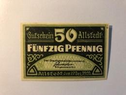 Allemagne Notgeld Allstedt 50 Pfennig - [ 3] 1918-1933 : République De Weimar