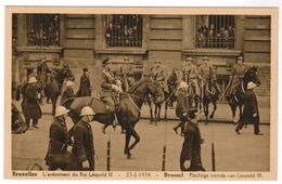 Brussel, Bruxelles, L'Avènement Du Roi Leopold III, Plechtige Intrede Van Leopold III (pk52766) - Fêtes, événements