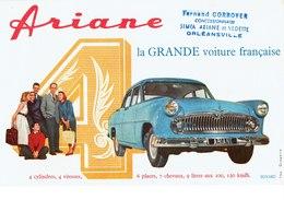 Buvard Voiture Ariane Concessionnaire Corroyer à Orléansville En Algérie - Automobile