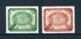 1958, UN, Complete Set, MNH/**, Michel Catalog No. 74/75, 0,10 Euro - New York -  VN Hauptquartier
