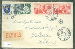 HANDGESCHREVEN EXPRESS BRIEF Uit 1955 Van PARIS Naar ROTTERDAM    (11.493) - Brieven En Documenten