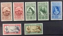 Italie PA N° 32 à 38 Neufs Avec Charnière POSTE AERIENNE - 1900-44 Vittorio Emanuele III