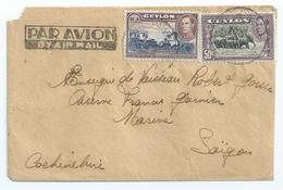 Ceylon, 1946, Cover To Saigon - Ceylan (...-1947)