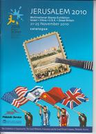 ISRAEL 2010 MULTINATIONAL STAMP EXHIBITION JERUSALEM ILLUSTRATED CATALOGUE IN ENGLISH AND HEBREW - Catalogues De Maisons De Vente