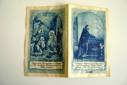 1962  Nativita  Calendarietto Religioso Per I Benefattori Dell'Orfanotrofio Padre Monti, Milano   CALENDARIO CALENDRIER - Calendars
