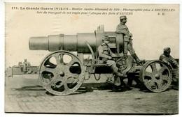 Vlc 94 - La Grande Guerre De 1914-15 : Mortier Austro-allemand De 320 - Photographie Prise à Bruxelles (fort D'Anvers) - Guerre 1914-18