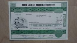 Historische Aktie Der North American Rockwell Corporation Von 1967 - Hist. Wertpapiere - Nonvaleurs