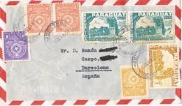 30961. Carta Aerea SANTIAGO (Misiones) Paraguay 1958 A Barcelona - Paraguay