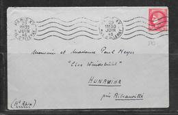 LOT 1812262 - N° 373 SUR LETTRE DE PARIS DU 29/06/45 POUR HUNAWIHR - Marcophilie (Lettres)