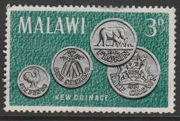Malawi 1965 Malawi's First Coinage 3 P Multicoloured SW 23 O Used - Malawi (1964-...)