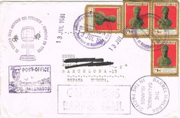 30962. Carta Aerea FLOREANA, GALAPAGOS Is. (Ecuador)  1981. BARREL MAIL - Equateur
