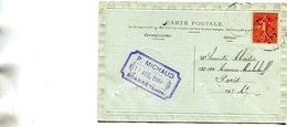 ROANNE - Carte Commerciale Maison P MICHAUD Son Cachet Ecrit à Sté Abadie 130 132 Ave Malakoff Paris - Roanne