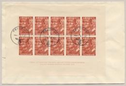 Nederland - 1943 - 10x 7,5 Cent Legioenblok Op R-cover Met Feldpost Stempel Naar Angersdorf / Deutschland - Brieven En Documenten