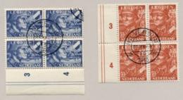 Nederland - 1943 - Legioen Serie In Blok Van 4 Met Plaatfouten 402P1 En 403P - Periode 1891-1948 (Wilhelmina)