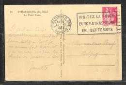 LOT 1812265 - N° 370 SUR CP DE STRASBOURG DU 25/07/39 POUR LA BELGIQUE - Marcophilie (Lettres)