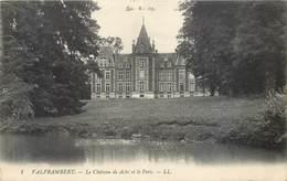 2 CPA 61 Orne Valframbert Le Chateau De Aché Et Le Parc 1912 - France