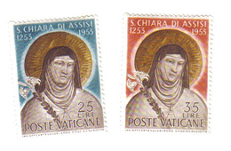 CITTA' DEL VATICANO 1953 7° Centenario Morte Santa Chiara D'Assisi  NUOVI ** COD.FRA.392 - Nuovi