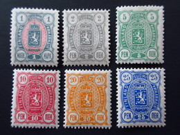 1890 Finlande Coat Of Arms 6 Timbres Neufs Traces De Charnières TBE - 1856-1917 Administration Russe