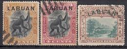 LABUAN 1899 - MiNr: 92+94+97 Used - Nordborneo (...-1963)
