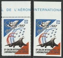 LE BOURGET 1987 - CONCORDE - 0,00 ECU - 37° SALON INTERNATIONAL DE L'AERONAUTIQUE ET DE L'ESPACE - Erinnophilie
