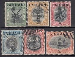 LABUAN Porto 1901 - MiNr: 1-9  6x Used - Nordborneo (...-1963)