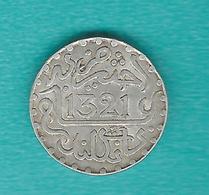 Morocco - Abd Al-Aziz - AH1321 (1903) - 1 Dirham / 1/10 Rial (KMY19) - Maroc