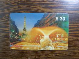 Prepaid Phonecard,Eiffel Tower,sample Card - Hong Kong